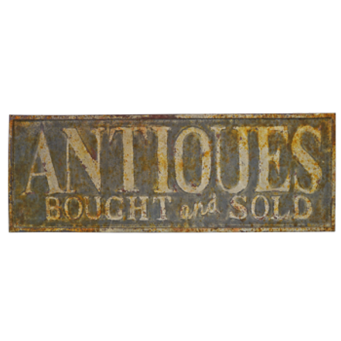 Vintage Reproduction Metal Sign - Antiques Bought and Sold