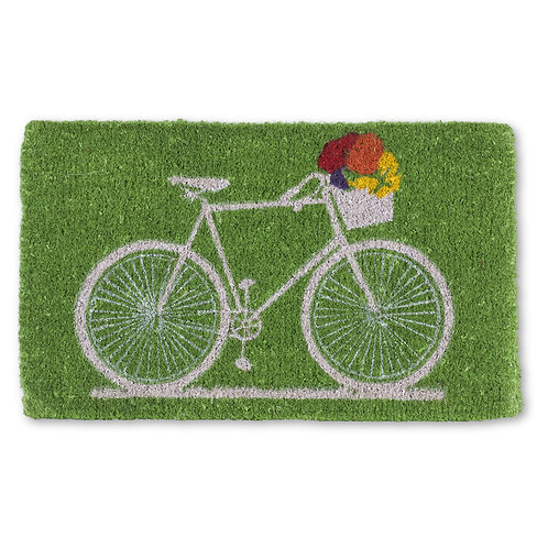 Bicycle with Flowers Doormat