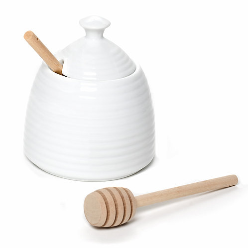 Beehive Honey Pot with Dauber