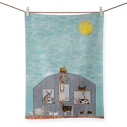 Barn Party - 100 % Cotton Tea Towel
