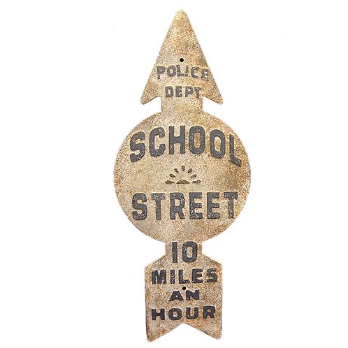 Vintage Reproduction Metal Sign - School Crossing