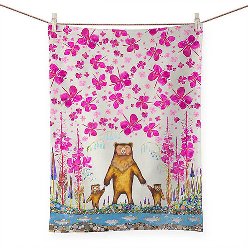 Three Bears - 100 % Cotton Tea Towel