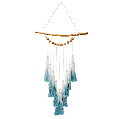 Ombre Tassel Wall Hanging - Blue