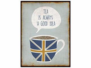 Tea Is Always A Good Idea Vintage Wood Sign