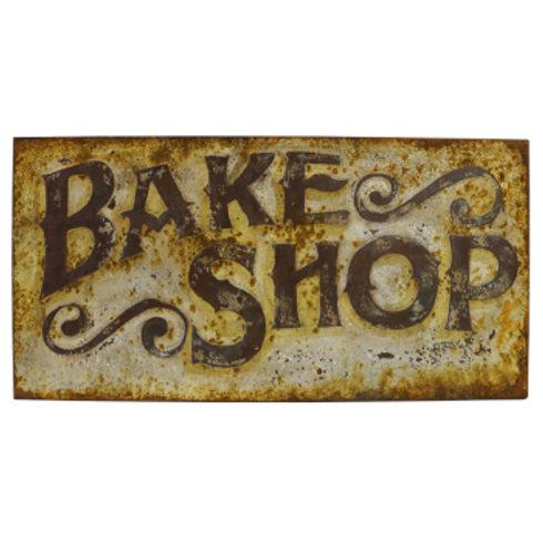 Vintage Reproduction Metal Sign - Bake Shop