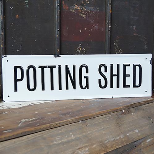 Metal Sign - Potting Shed