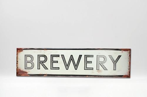 Brewery Metal Sign