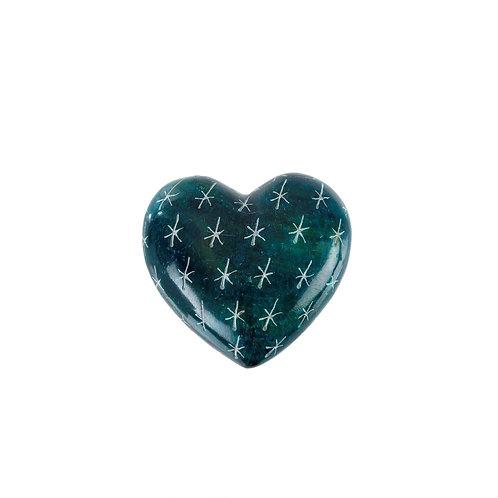 Blue Lagoon Soapstone Heart