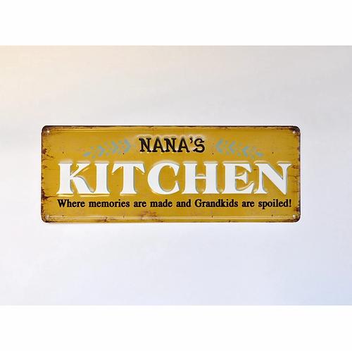 Nana's Kitchen 3D Metal Sign
