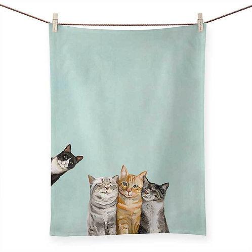 Feline Friends - 100% Cotton Tea Towel