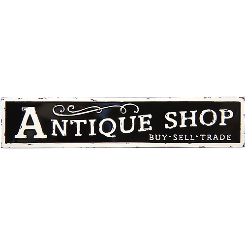 Embossed Metal Sign - Antique Shop