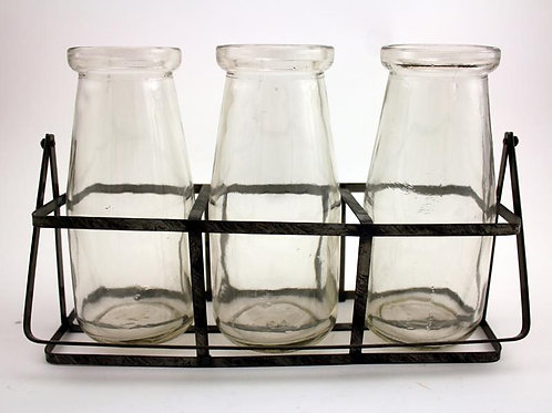 Set of 3 Milk Bottles