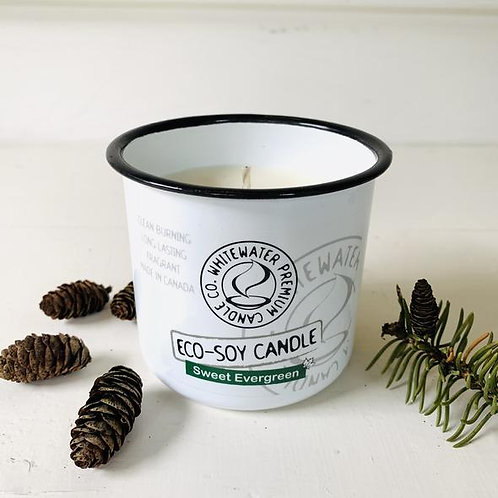 Sweet Evergreen White Water Candles -