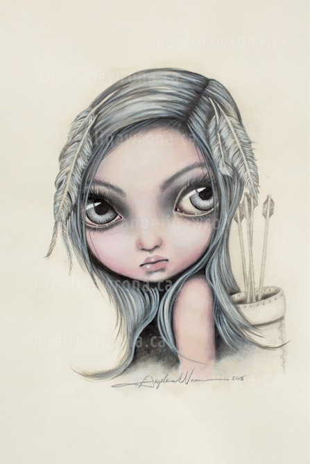 Aielah - Angelina  Wrona Print