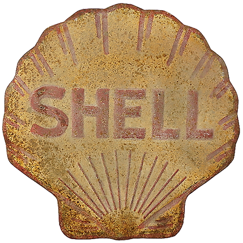 Vintage Reproduction Metal Sign - Shell Gas