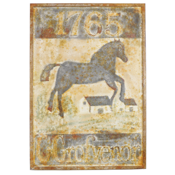 Vintage Reproduction Metal Sign - Grofvenor Horse