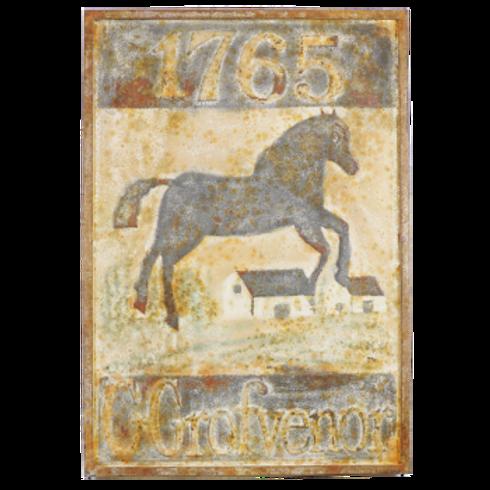 Vintage Reproduction Metal Sign - Grofvenor Horse