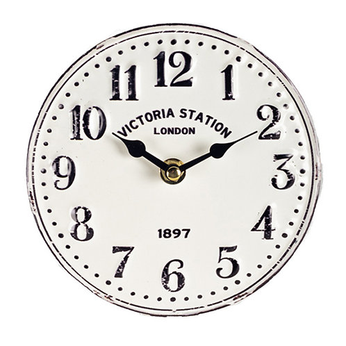 Metal Table Clock - Victoria Station