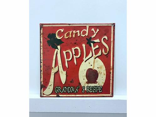 Candy Apple Vintage Metal Sign