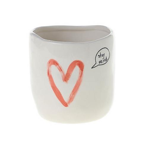 Stay Weird Heart Vase