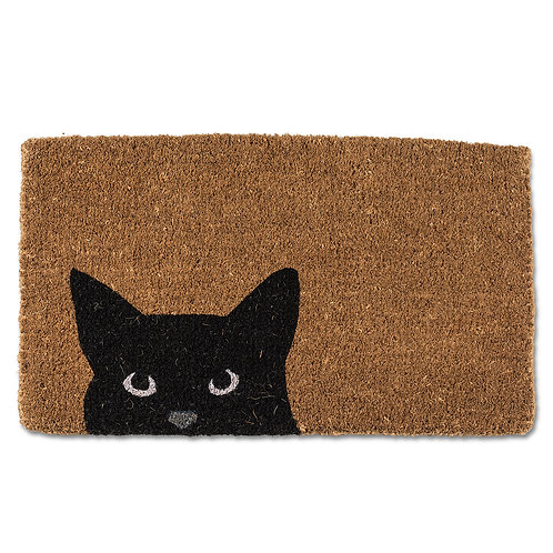 Peeking Cat Doormat