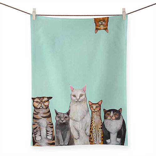 Cats, Cats, Cats - 100 % Cotton Tea Towel