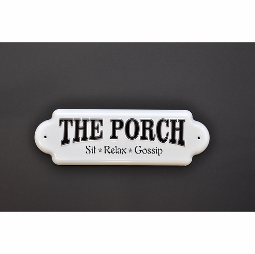The Porch Sit Relax Gossip 3D Metal Sign