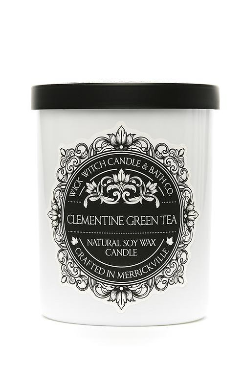 Clementine Green Tea - Wick Witch Natural Soy Wax Candle