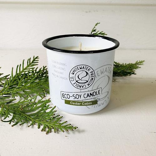 Cedar Cabin White Water Candles -