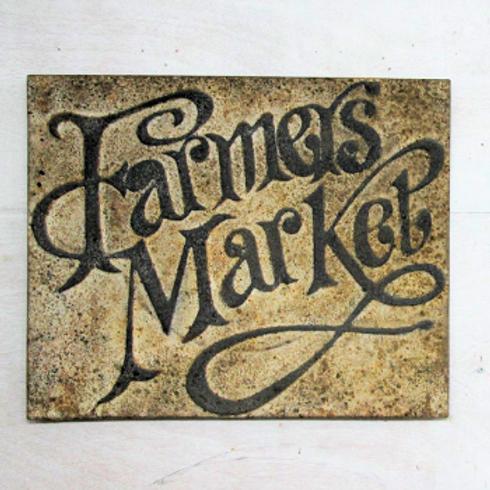 Vintage Reproduction Metal Sign - Farmers Market