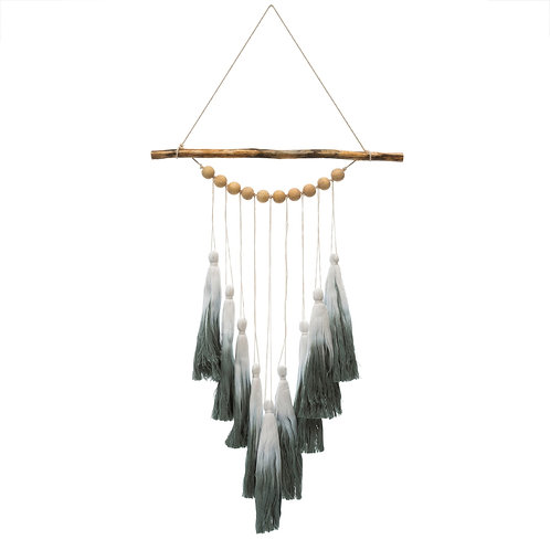 Ombre Tassel Wall Hanging - Green
