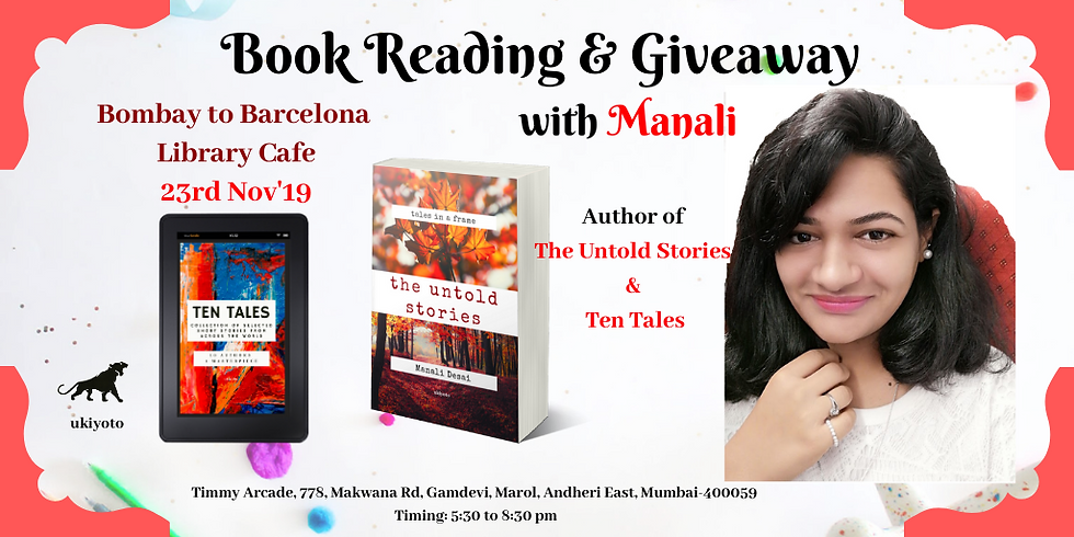 Book Reading and Giveaway with Manali
