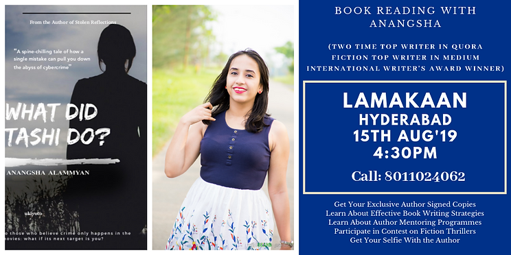 Book Reading & Lucky Giveaway with Anangsha