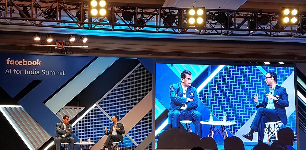 Facebook AI India Summit with Mr. Amitabh Kant, CEO NITI Aayog
