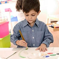 An example of a well-coordinated child, executing activity in a balanced way.