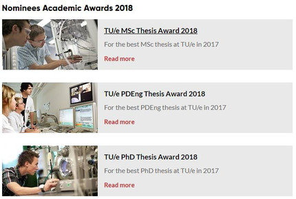 Nominatie Academic Awards 2019
