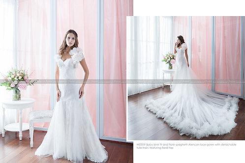 Alencon lace gown