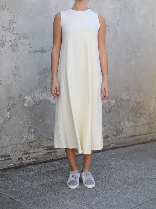Krem Kolsuz Elbise