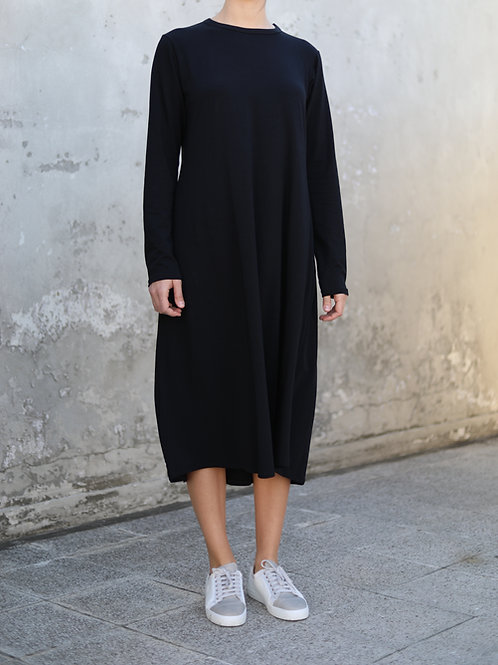 Siyah Uzun Kollu Elbise