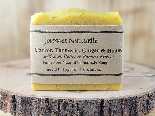 Carrot, Turmeric, Ginger & Honey Soap by Journee Naturelle