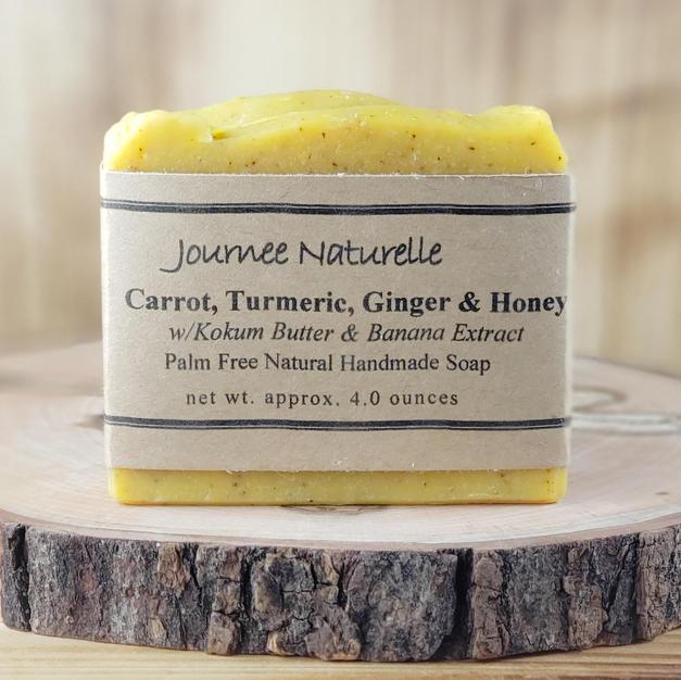 Carrot, Turmeric, Ginger & Honey Soap