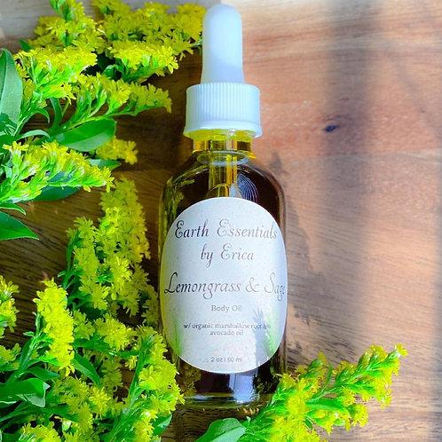 Lemongrass & Sage Body Oil