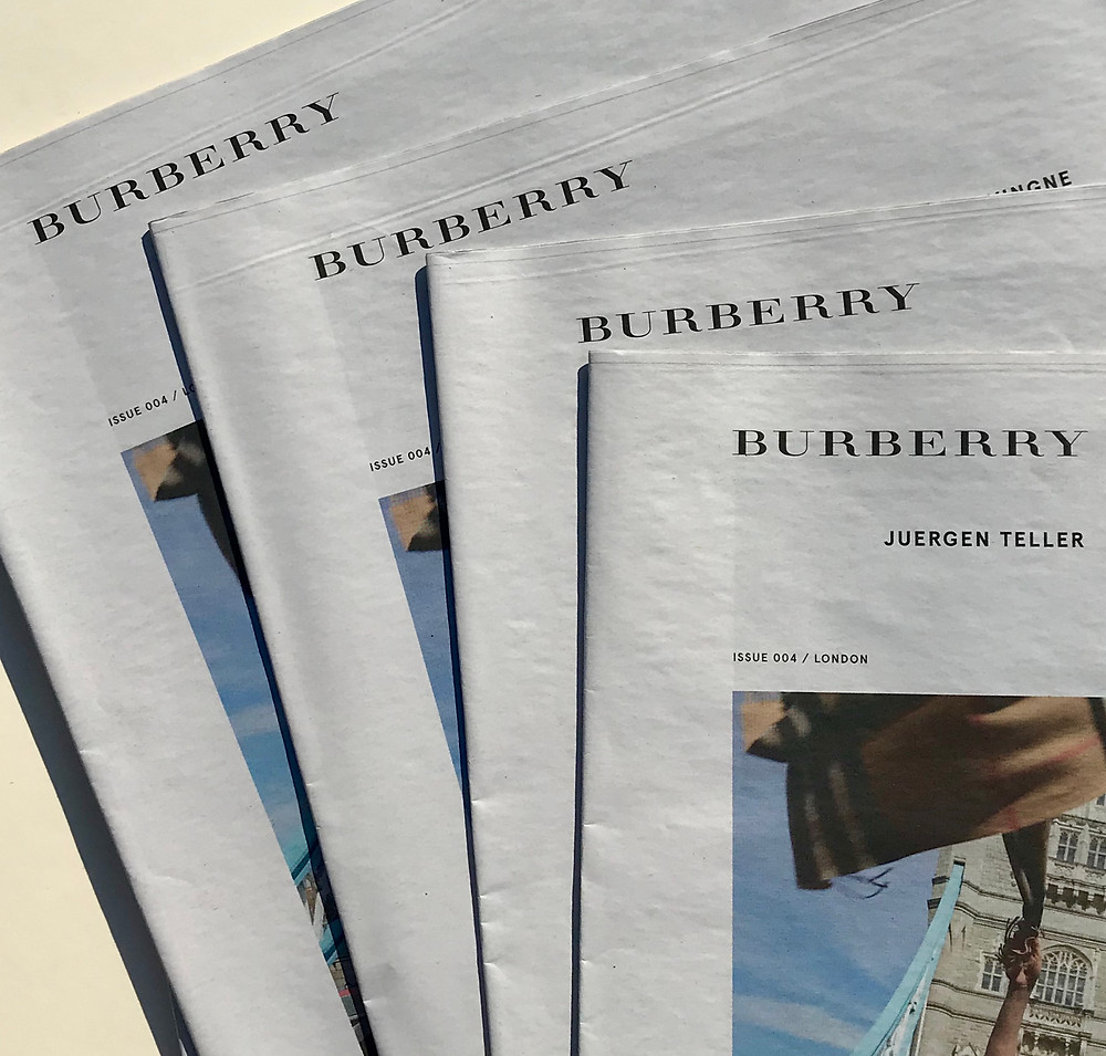 Burberry Newspaper, Tabloid Printing , Broadsheet Printing