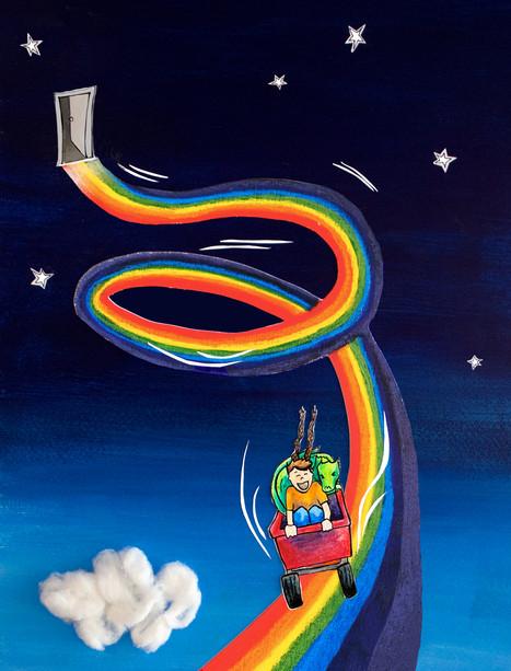 Rainbow rollercoaster