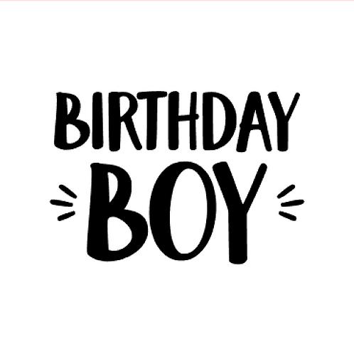 Vinyl Add-On- Birthday Boy!