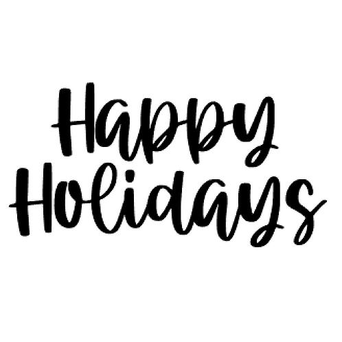 Vinyl Add-On - Happy Holidays!
