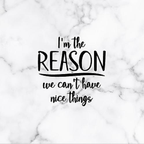 Vinyl Add-On- I'm The Reason!