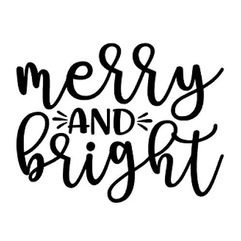 Vinyl Add-On - Merry & Bright!