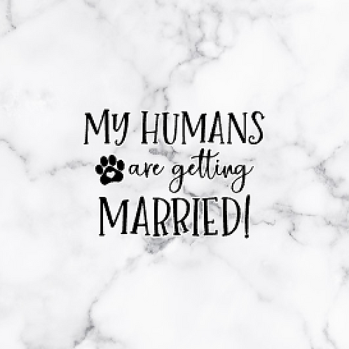 Vinyl Add-On- My Humans are Getting Married!