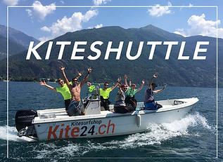 Boot für das Kiteshuttle mit Kunden